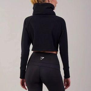 fff909c8a70db5 Gymshark Tops | Slouch Cropped Hoodie Black | Poshmark